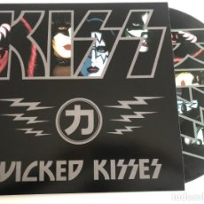 Discos de vinilo: KISS - WICKED KISSES - PICTURE DISC COLECCIONISTA. Lote 198954127