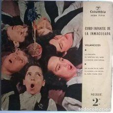 Discos de vinilo: CORO INFANTIL DE LA INMACULADA- VILLANCICOS: LA CHULAPA/ EL VESTIDO DEL NIÑO/ NOCHE VENTUROSA 1959EP. Lote 198955671