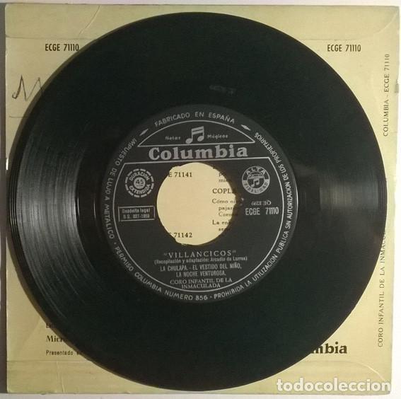 Discos de vinilo: Coro Infantil de la Inmaculada- Villancicos: La chulapa/ El vestido del niño/ Noche venturosa 1959ep - Foto 3 - 198955671