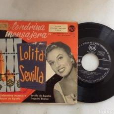 Discos de vinilo: LOLITA SEVILLA EP GOLONDRINA MENSAJERA +3. Lote 198957412