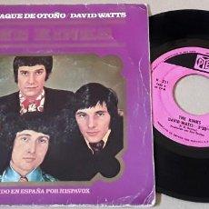 Discos de vinil: SG - THE KINKS - ALMANAQUE DE OTOÑO / DAVID WATTS - THE KINKS - AUTUMN ALMANAC. Lote 198970516