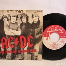 Discos de vinilo: AC/DC - YOU SHOOK ME ALL NIGHT LONG - SINGLE - 1980 - SPAIN - VG/VG. Lote 198974357