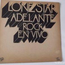 Discos de vinilo: LONE STAR - ADELANTE ROCK EN VIVO (UNIC 1973). Lote 198974860