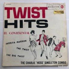 Discos de vinilo: EP THE CHARLIE HOSS SINGLETON COMBO / TWIST HITS / EL CONTINENTAL EDITADO EN ESPAÑA. Lote 198980605