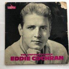 Discos de vinilo: EP EDDIE COCHRAN THE UNFORGETTABLE EDITADO EN FRANCIA . Lote 198980743