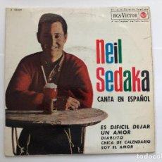 Discos de vinilo: EP NEIL SEDAKA CANTA EN ESPAÑOL / ES DIFICIL DEJAR UN AMOR/DIABLITO/CHICA DE / EDITADO EN ESPAÑA. Lote 198985718