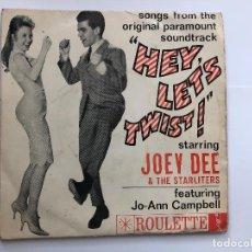 Discos de vinilo: EP JOY DEE & THE STARLITERS HEY LET'S TWIST EDITADO EN FRANCIA . Lote 198986872