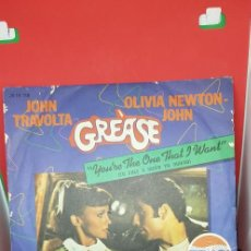 Discos de vinilo: ANUNCIO PEPSI. 'GREASE' YOU'RE THE ONE THAT I WANT. Lote 198988085