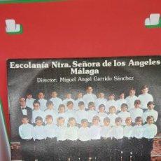 Discos de vinilo: ESCOLANÍA NTRA. SRA. DE LOS ÁNGELES 1978. COMIENZOS DE CARLOS ÁLVAREZ (TENOR). Lote 198988477