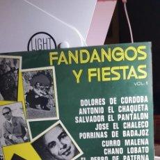 Discos de vinilo: FANDANGOS Y FIESTAS VOL.1 1974. Lote 198990286