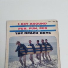 Discos de vinilo: THE BEACH BOYS I GET AROUND + 3 ( 1964 CAPITOL FRANCE ) FUN FUN FUN DON'T WORRY BABY FINDERS KEEPERS. Lote 198990308