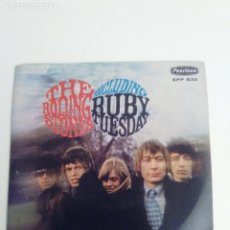 Discos de vinilo: THE ROLLING STONES RUBY TUESDAY + 3 ( 1967 LONDON PEERLESS MEXICO ) LETS SPEND SHE SMILED CONNECTION. Lote 198992111