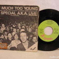 Discos de vinilo: THE SPECIAL A.K.A. - TOO MUCH TOO YOUNG +3 - EP - 1980 - SPAIN - VG/P. Lote 198995472