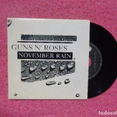 Discos de vinilo: SINGLE GUNS N' ROSES - NOVEMBER RAIN - GEFFEN 1A GES 19067 - SPAIN PRESS (NM/NM). Lote 199002132