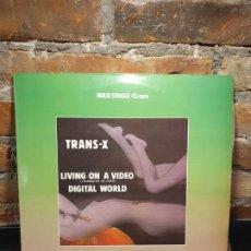 Discos de vinilo: TRANS X LIVING ON A VIDEO MAXI. Lote 199004023