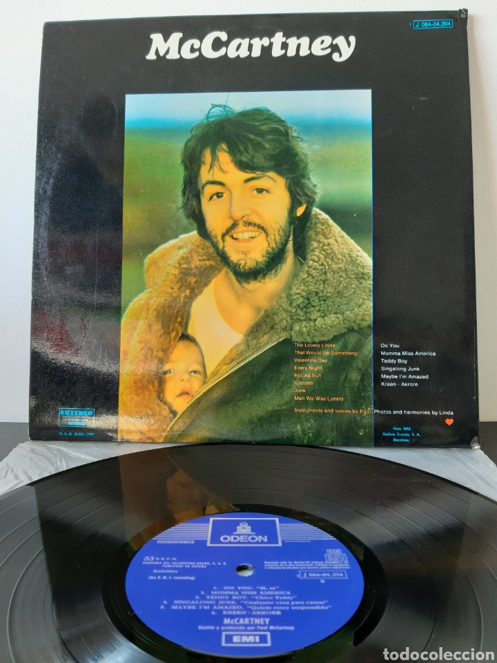 Discos de vinilo: PAUL McCARTNEY- McCARTNEY- ODEON-1970. ESPAÑA. (THE BEATLES) - Foto 3 - 199035013