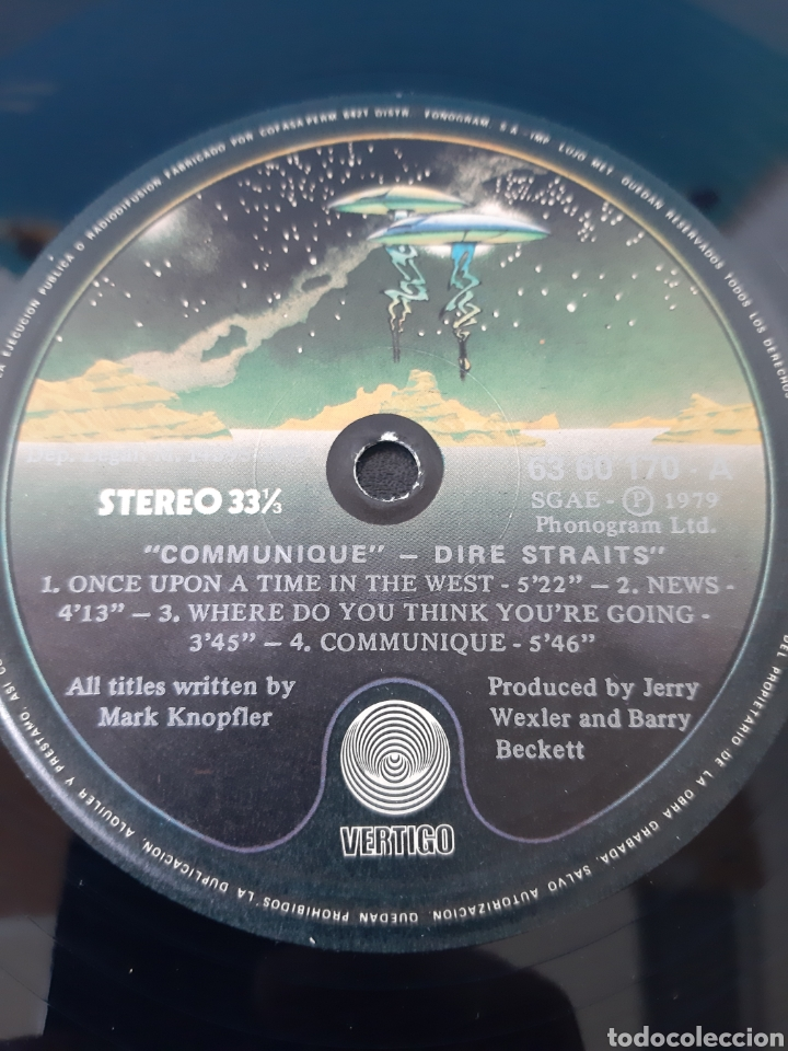 Discos de vinilo: DIRE STRAITS COMMUNIQUÉ. 1979. VERTIGO. SPAIN - Foto 3 - 199038327
