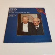 Discos de vinilo: ISAAC STERN ( VIOLIN ) - ENESCO - BRAHMS - SCHUMANN - DVORAK - ZAKIN ( PIANO ). Lote 199041023