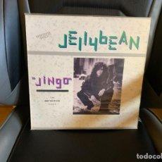 Discos de vinilo: JELLYBEAN – JINGO (THE DEFINITIVE MIXES). DISCO VINILO MAXI. ESTADO VG+ /VG+.. Lote 199046158