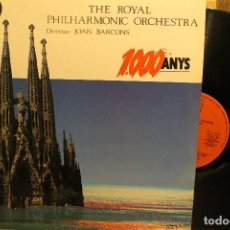 Discos de vinilo: THE ROYAL PHILHARMONIC ORCHESTRA JOAN BARCONS / 1988 HORUS / 1000 ANYS . Lote 199046306