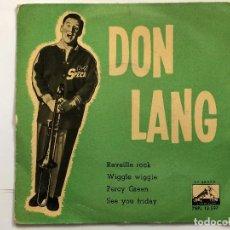 Discos de vinilo: EP DON LANG/REVEILLE ROCK/ WIGGLE WIGGLE/PERCY GREEN/SEE YOU FRIDAY EDITADO EN ESPAÑA. Lote 199047586