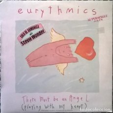 Discos de vinilo: EURYTHMICS– THERE MUST BE AN ANGEL (PLAYING WITH MY HEART) MAXI-SINGLE SPAIN 1985. Lote 199058456