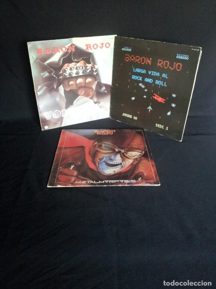 BARON ROJO - LOTE DE 3 LP - CHAPA DISCOS, LEER DESCRIPCION (Música - Discos - LP Vinilo - Heavy - Metal)
