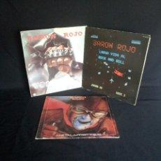 Discos de vinilo: BARON ROJO - LOTE DE 3 LP - CHAPA DISCOS, LEER DESCRIPCION. Lote 199062010