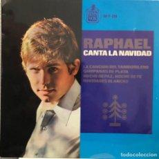 Discos de vinilo: RAPHAEL EP 45 RPM - CANTA LA NAVIDAD. Lote 199064928
