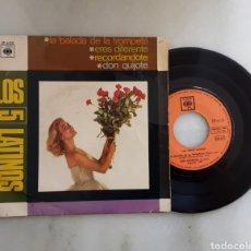 Discos de vinilo: LOS CINCO LATINOS EP LA BALADA DE LA TROMPETA +3. Lote 199088592