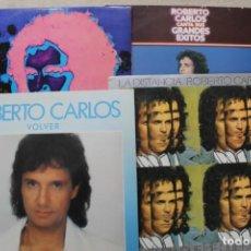 Discos de vinilo: LOTE 4 LP ROBERTO CARLOS LP VINYL MADE IN SPAIN . Lote 199091866