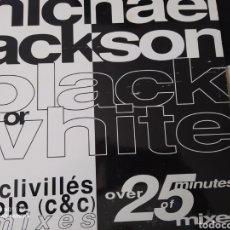 Discos de vinilo: MICHAEL JACKSON. BLACK OR WHITE. MAXI SINGLE. THE CRIVILLES & COLE HOUSE. EPIC. AÑO 1991.. Lote 199098952