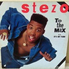 Discos de vinilo: STEZO - TO THE MAX MAXI SLEEPING BAG EDIC. INGLESA - 1989. Lote 199103980