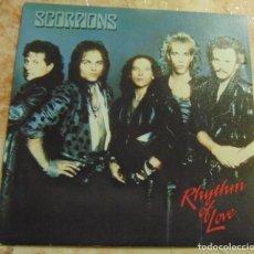 Discos de vinilo: SCORPIONS – RHYTHM OF LOVE - SINGLE 1988. Lote 199111682