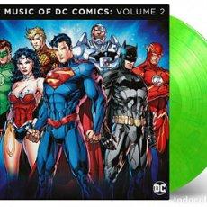 Discos de vinilo: VARIOS -THE MUSIC OF THE DC COMICS VOLUME 2 VINILO 180G 2LP COLOR VERDE LIMA PRECINTADO. Lote 199143788