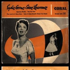 Discos de vinilo: XX VINILO, EYDIE GORME Y STEVE LAWRENCE, BESAME MUCHO, TEA FOR TWO, THE LORD IS A BUSY MAN.. Lote 199150161