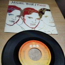 Discos de vinilo: MIGEL BOSE - FUEGO / SIN TON NI SON - SINGLE 1983. Lote 199151218