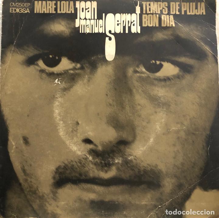 JOAN MANUEL SERRAT, EP MARE LOLA (Música - Discos de Vinilo - EPs - Cantautores Españoles)