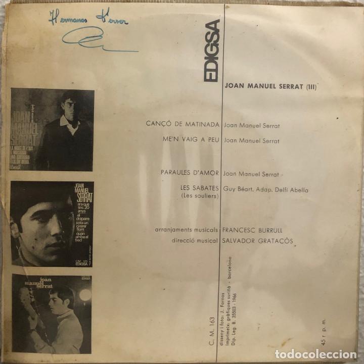 Discos de vinilo: JOAN MANUEL SERRAT, ep PARAULES DAMOR - Foto 2 - 199152711