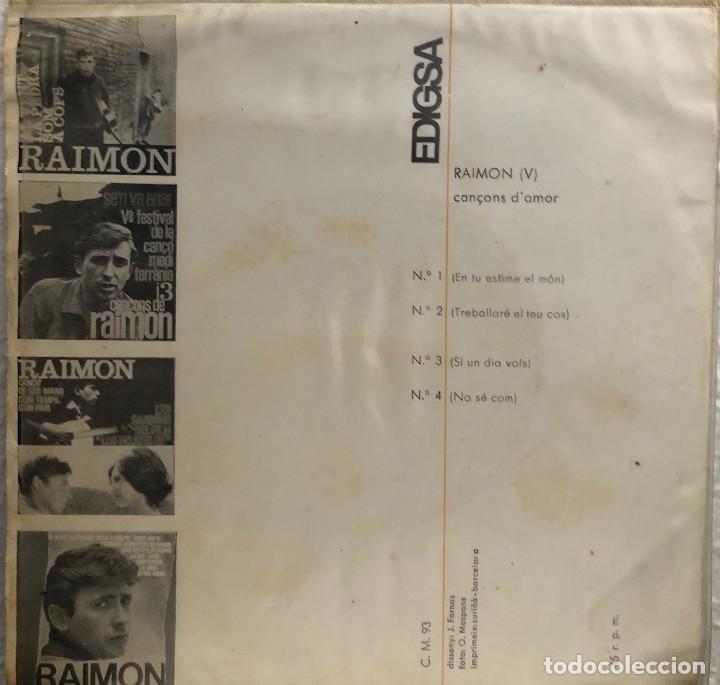 Discos de vinilo: RAIMON - ep - En tu estime el món - - Foto 2 - 199163693