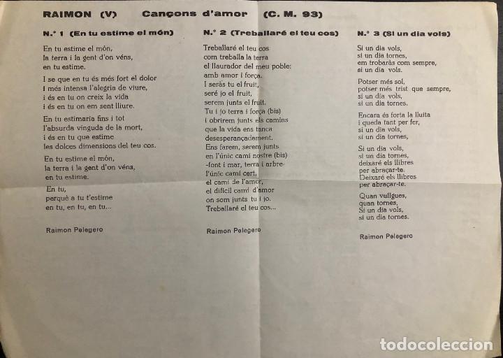 Discos de vinilo: RAIMON - ep - En tu estime el món - - Foto 3 - 199163693