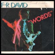 Discos de vinilo: XX VINILO, F-R DAVID, WORDS Y WHEN THE SUN GOES DOWN.. Lote 199170442