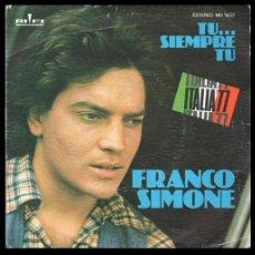 Discos de vinilo: XX VINILO, FRANCO SIMONE, TU.. SIEMPRE TU Y QUE QUIERES.. Lote 199170582
