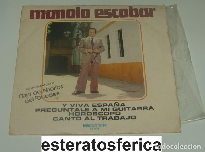 MANOLO ESCOBAR - Y VIVA ESPAÑA + 3 - BELTER (Música - Discos de Vinilo - EPs - Flamenco, Canción española y Cuplé)