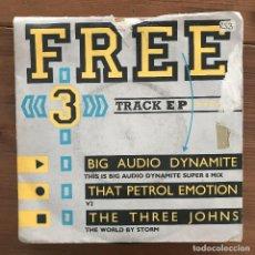 Discos de vinilo: RECORD MIRROR FREE 3 TRACK EP - 7'' UK 1986 - THAT PETROL EMOTION, 3 JOHNS, BIG AUDIO DYNAMITE. Lote 199188292