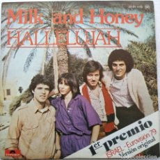 Discos de vinilo: MILK AND HONEY - HALLELUJAH (SINGLE) (POLYDOR)	20 01 870 (D:NM). Lote 199192816