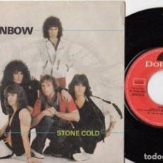 Discos de vinilo: RAINBOW - STONE COLD / ROCK FEVER - SINGLE DE VINILO EDICION ESPAÑOLA #. Lote 199201460