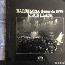 Discos de vinilo: LLUIS LLACH BARCELONA GENER 1976. Lote 199201555