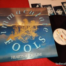 Discos de vinilo: IMMACULATE FOOLS HEARTS OF FORTUNE LP 1985 A&M EDICION ESPAÑOLA SPAIN. Lote 199203857