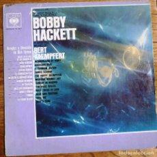 Discos de vinilo: BOBBY HACKETT PLAYS THE MUSIC BERT HACKETT - CBS 1968. Lote 199204521